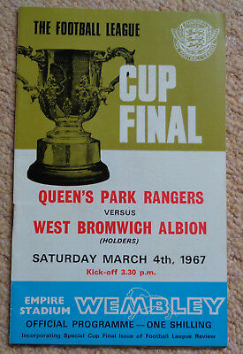 1967 Football League Cup Final Programme,qpr V West Brom Albion At Wembley.