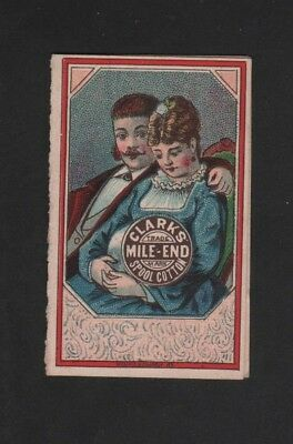Vintage Folding Calendar 1881 Clark's Mile-End Spool Cotton Rooster