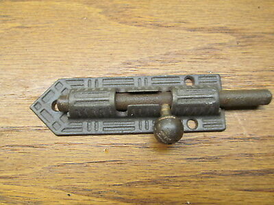 Old Sliding Deadbolt...brass ? Bronze ? Knob..
