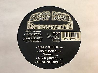 Snoop Dogg - Da Game Is To Be Sold, Not To Be Told - 2 × Vinyl LP US Promo - NM