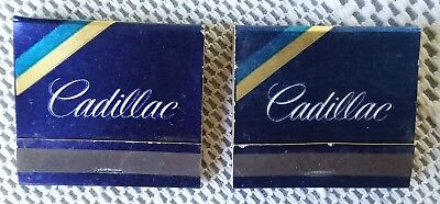 Vintage Cadillac Matchbooks lot of 5 complete & clean advertising lot #2