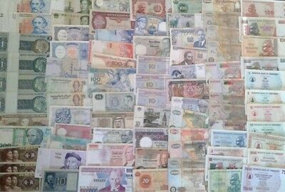 80 World and Africa Banknotes in VF/XF Condition