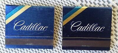 Vintage Cadillac Matchbooks lot of 4 complete & clean advertising lot #1