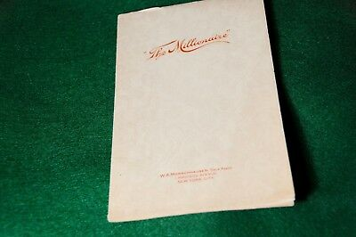 Antique Millionaire Calculator  Owners Manual - Photocopy