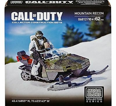 Mega Bloks 06812 Call of Duty Mountain Recon 62pc Buildable Collector Set