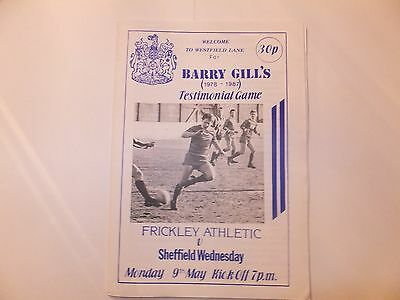 Frickley Athletic v Sheffield Wednesday - Barry Gill Testimonial - 9th May 1988