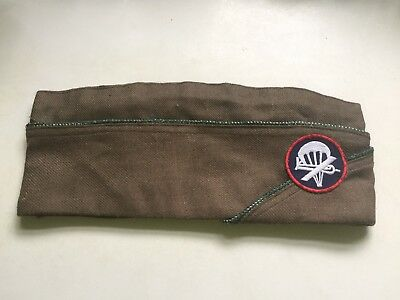 US Airborne Officers Garrison Cap  WWII (Late War) Size 7 1/2