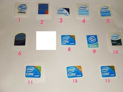 Intel inside sticker - Core i3 i5 i7 2 Duo 2 Quad , Xeon, Pentium 4 D, Celeron