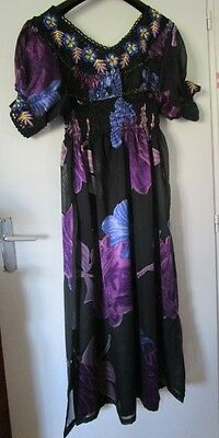 Ensemble DJELLABA TUNIQUE ROBE Orientale et PANTALON - occasion - TBE