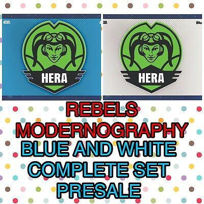 REBELS MODERNOGRAPHY BLUE/WHITE VARIANTS COMPLETE PRESALE Topps StarWars Digital