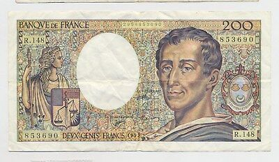 France 200 francs 1992 paper money banknote  (Combined Shipping)