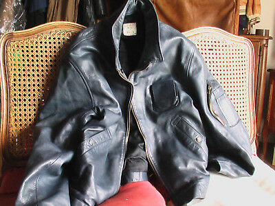 blouson cuir pilote de chasse JACQUIN 96M 51/73  Flying Jacket french Air Force