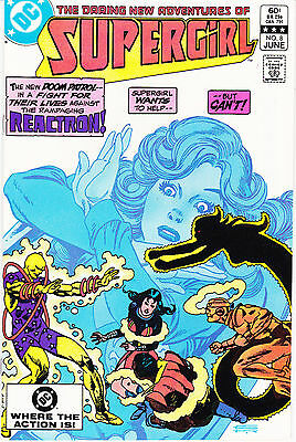 SUPERGIRL 8 - 1st APP REACTRON (BRONZE AGE 1983) - 9.0