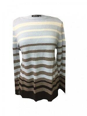 Pull Longues À Mailles Manches Multicolore Rayures Rond Col Olsen Fines Tricot fwB4qOxg