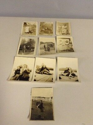 Lot of 10 vintage 1930's 1940's Photos Black and White