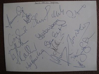 SOUTH AFRICA TO ENGLAND 1998 - AUTOGRAPHS x 15  INC. CRONJE - ON ALBUM PAGE