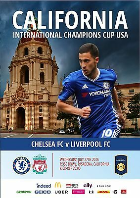 Programme Chelsea v Liverpool 2016 International Champions Cup Unofficial