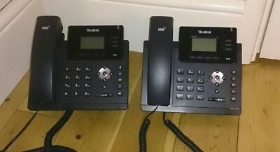 2 Yealink IP Voip Phones Ultra Elegant SIP -T40P