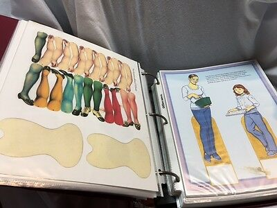 Lot of Paper Doll and Clothes Copies Binder LOOK