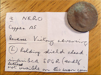 AE NERO Victory Holding Shield Metal Detector Find UK as Found Uncleaned