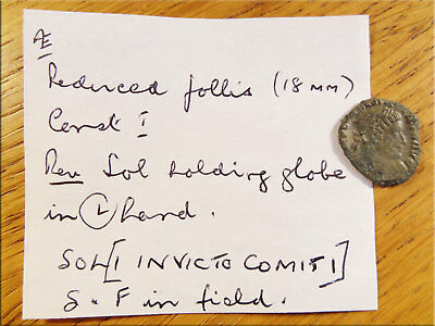 Reduced Follis Soldier Holding Globe Metal Detector Find UK as Found Uncleaned