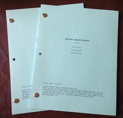 YOUNG SHELDON TV Script First Draft Pilot Episode 2/8/2017 COLOR COVER