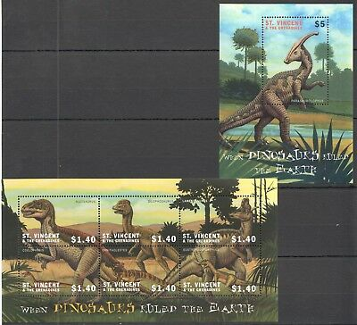 O569 St. Vincents&the Grenadines When Dinosaurs Ruled The Earth 1Kb+1Bl Mnh