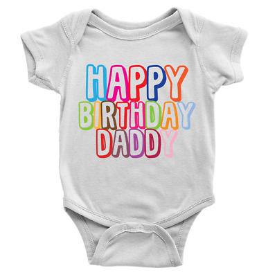 Baby vest for Dads birthday Happy 30th Birthday Daddy Baby grow Gift for daddy