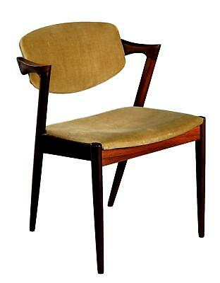 A rosewood dining chair by Kai Kristiansen, model 42