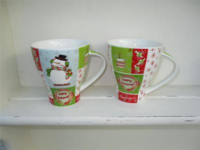 2 x LEONARDO Christmas Mugs - Lovely designs - Excellent Condition