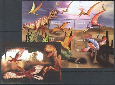 O663 Dominica Dinosaurs Triassic Period 1Kb+1Bl Mnh
