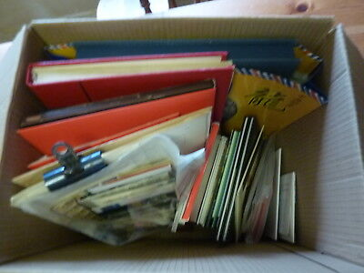 China Early-Prc Large Stamp Collection In Box, Old Albums, Coin/banknote Intere