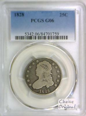 1828 Capped Bust Quarter PCGS G-06; Choice Original
