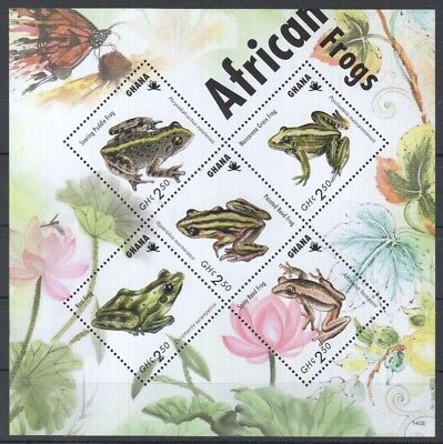 O751 2014 Ghana Animals African Frogs 1Kb Mnh