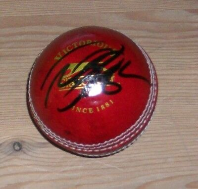 Alastair Cook England signed cricket ball with original authentic autograph