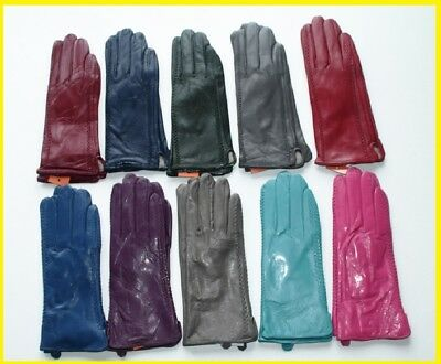 Colored Genuine Leather Ladies Gloves #2