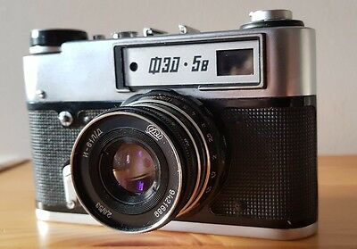 FED 5B Vintage Soviet Leica copy Camera + case. Industar Lens. UK seller