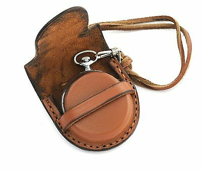 STRAP NEW WWI WWII style GENUINE LEATHER Pocket Watch belt POUCH BAG CASE 57mm