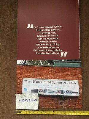 """""""WEST HAM UNITED SUPPORTERS CLUB"""" photo 10 May '16.Upton Park.Last game FAREWELL"""
