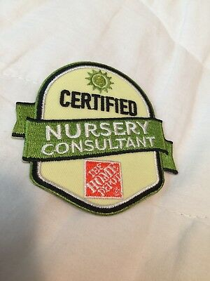 home depot collectibles certified nursery consultant patch