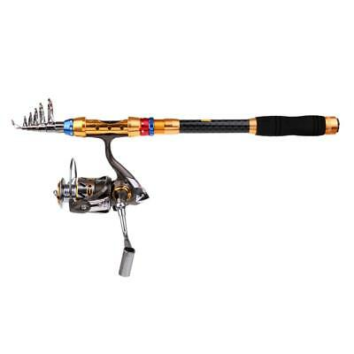 Fishing Rod and Spinning Reel Combo 2.4m Telescopic Fishing Rod Reel Set