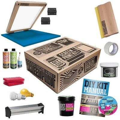 Silk Screen Printing Supplies At Home Software Starter Kit DIY Starter Press New