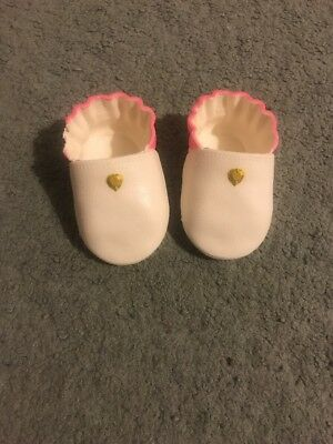 Baby Annabell Annabelle Doll Dolls Shoes White And Pink Slippers