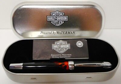2000 Waterman Harley-Davidson Ball Point Pen With Metal Harley-Davidson Case