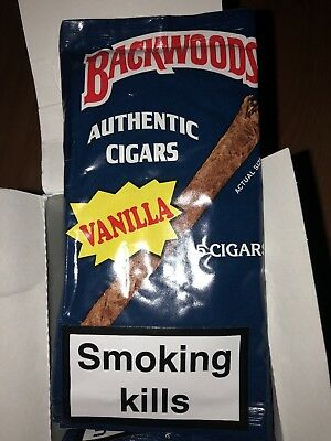 One pack of vanilla Backwoods cigars (5 Cigars)