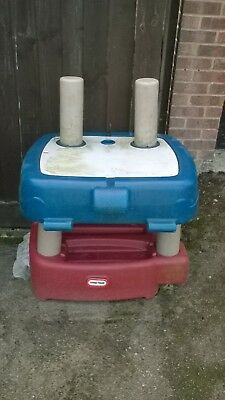 Sand and water table in red and blue made by little tikes and in good condition