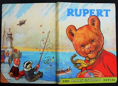 Vintage Original 1959 Rupert Bear Annual,  Price Unclipped 5/-