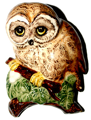 Owl Wall Hanger Made In England By Lownds Pateman Babbacombe Pottery Vintage Col