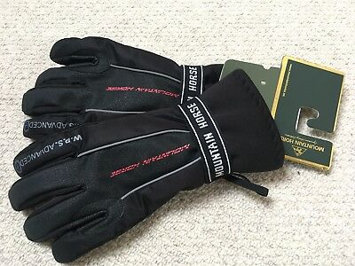 Mountain Horse Storm Black/Silver Grey Warm Waterproof Gloves - Large (UK 8)