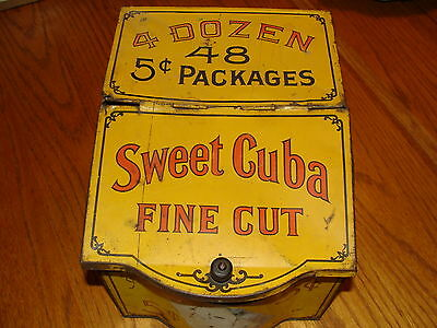 Vinatage Antique Sweet Cuban Cigar Point Of Sale Display Tin Container